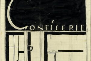 """Drawing with the word """"Confiserie"""""""