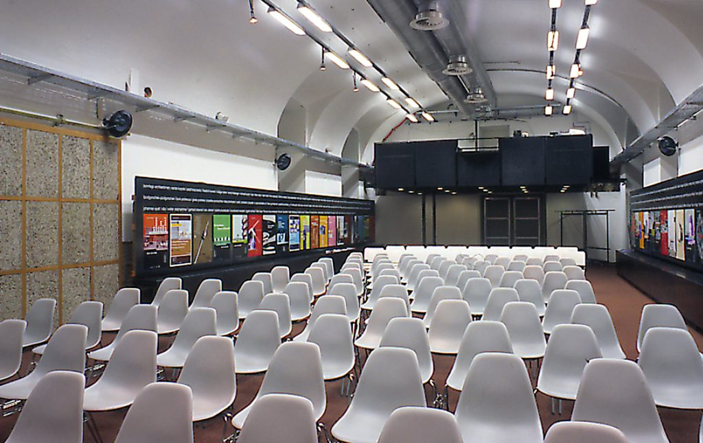 Events space with cinema seating