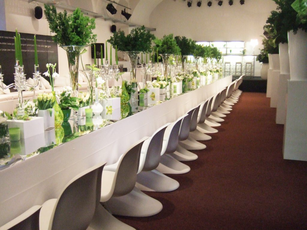 Events space banqueting table