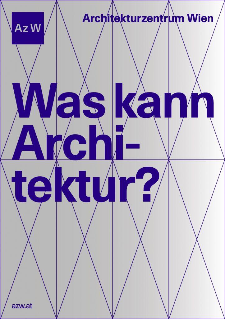 Logo und Schriftzug des Architekturzentrum Wien mit der Frage: Was kann Architektur?