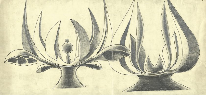 Zeichnung vom Denkmal, Jasenovac