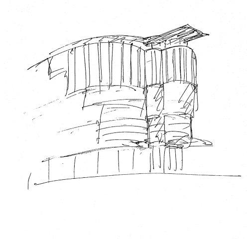 Skizze vom Haas-Haus