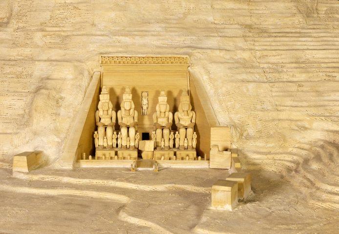 Model of the rock temple of Ramses II