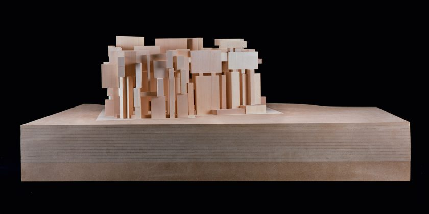 """Architectural model of the """"Church of the Most Holy Trinity"""""""