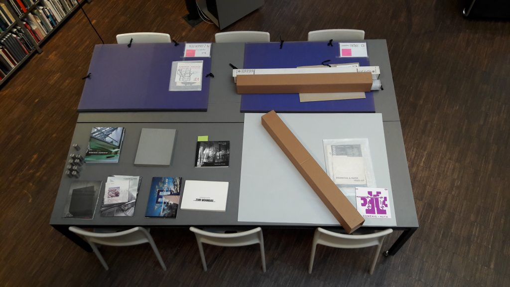 Material on table awaiting inspection