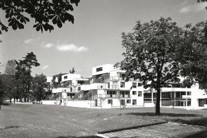Housing complex in park