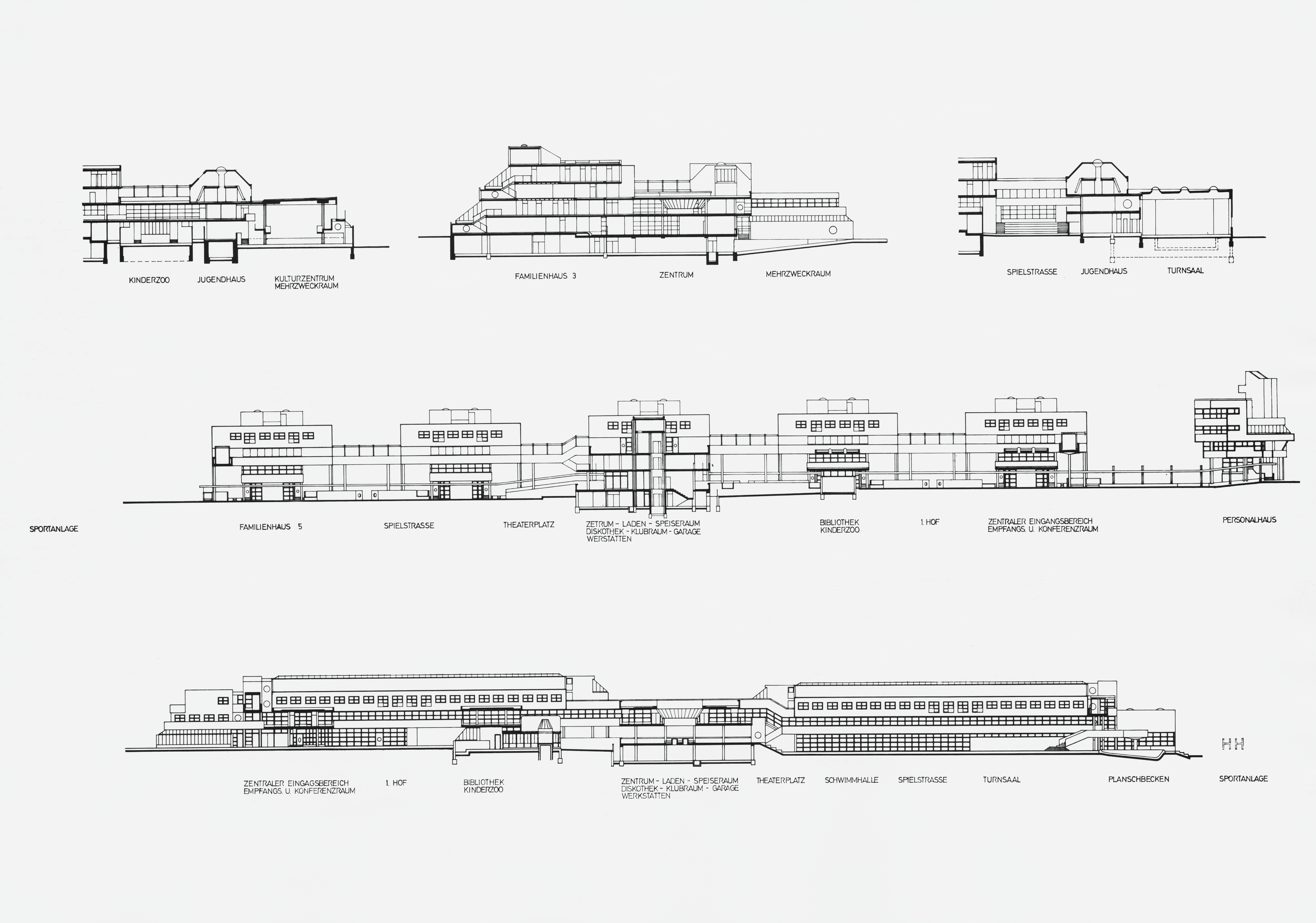 The disappearance of an architectural icon of the 1970s plan with sections and elevations ccuart Image collections