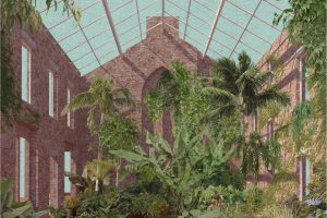 Internal courtyard with plants