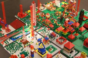 Lego City from above