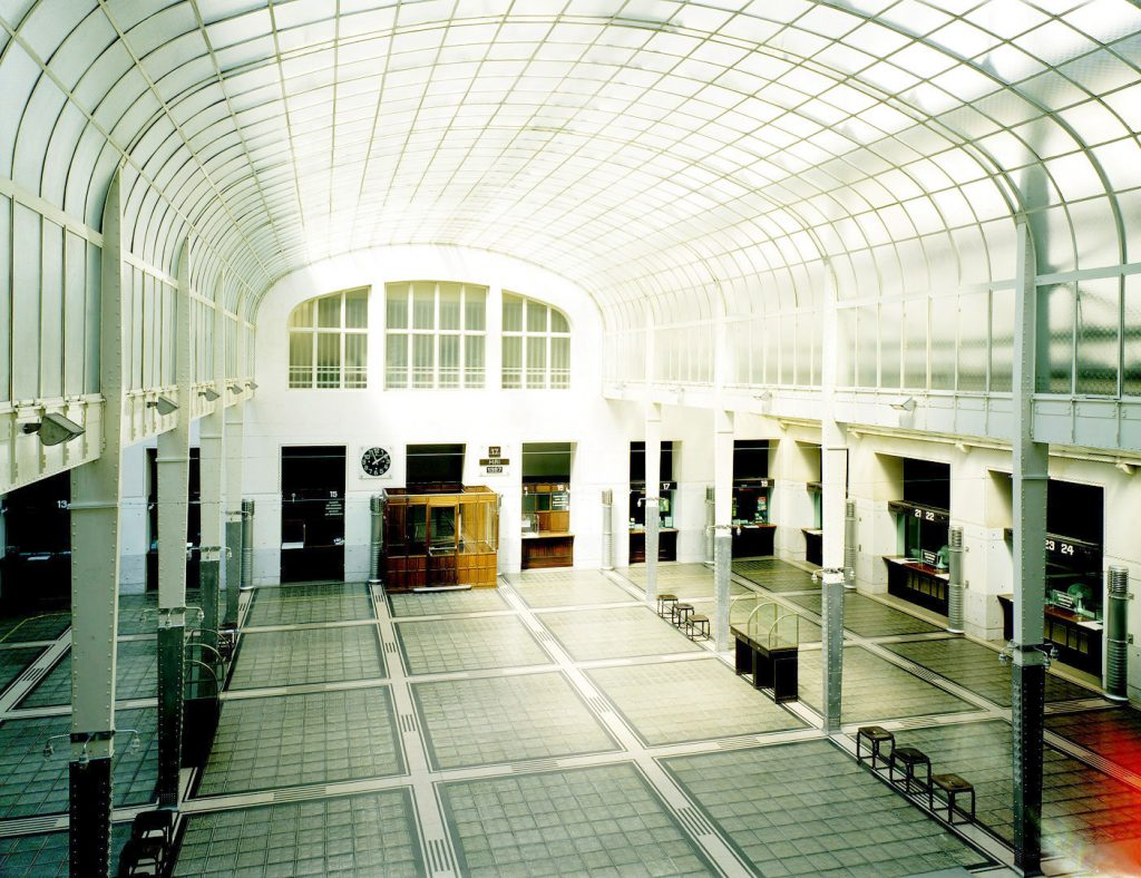Main hall of the Postsparkasse Vienna