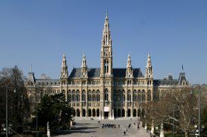 Blick auf das Wiener Rathaus