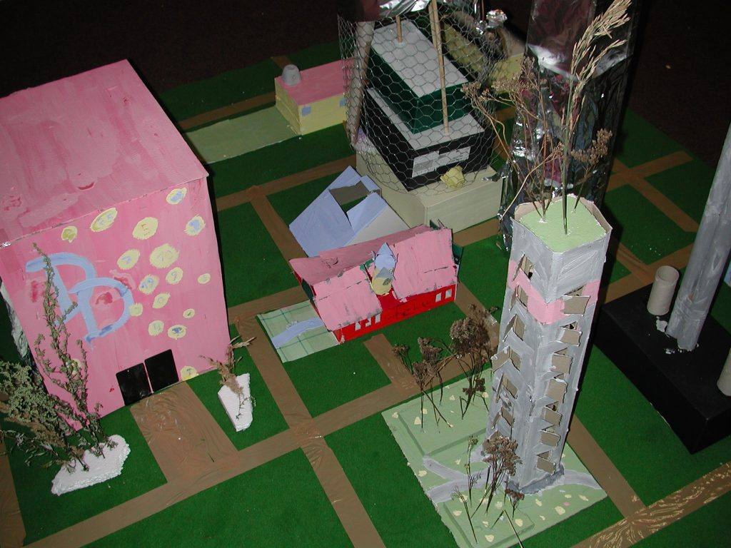 Selbstgebautes Stadtmodell