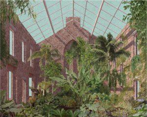 Innenhof mit Pflanzen