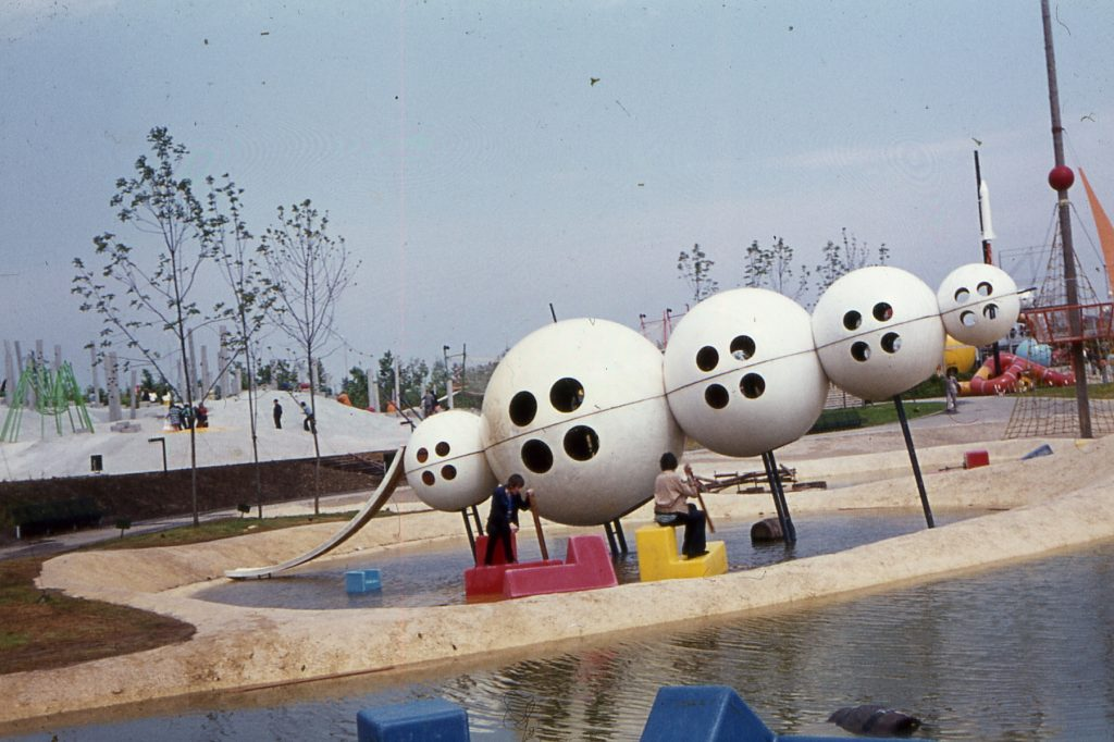 Playground with spheres