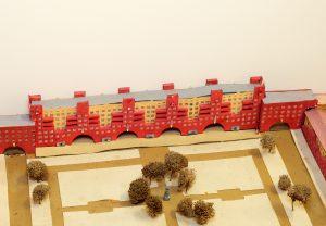Modell eines Wohnblocks