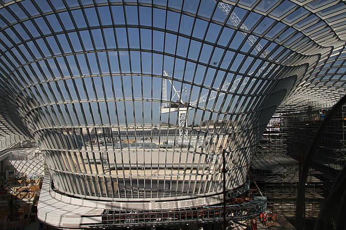 Stahl-Glas Dach
