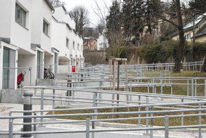 Barrierefreier Zugang zu Reihenhausanlage
