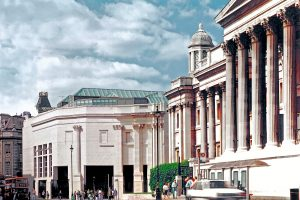 exterior view National Gallery London
