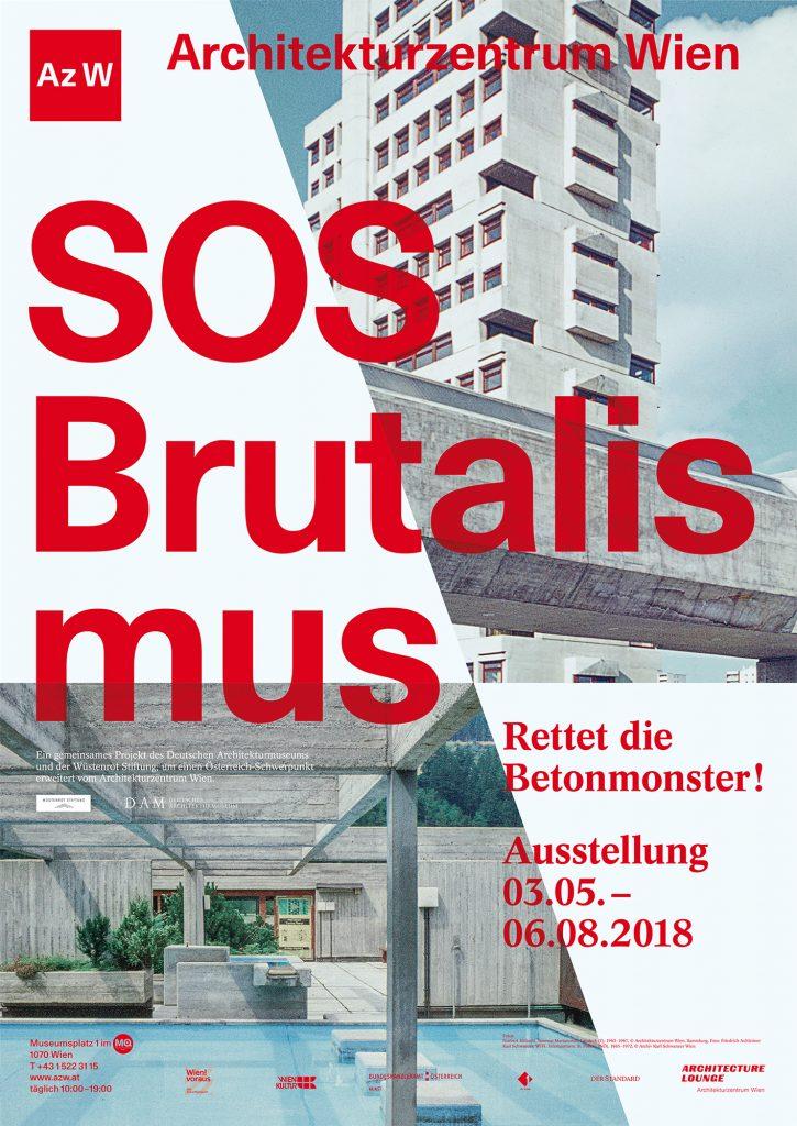 Ausstellungsplakat SOS Brutalismus