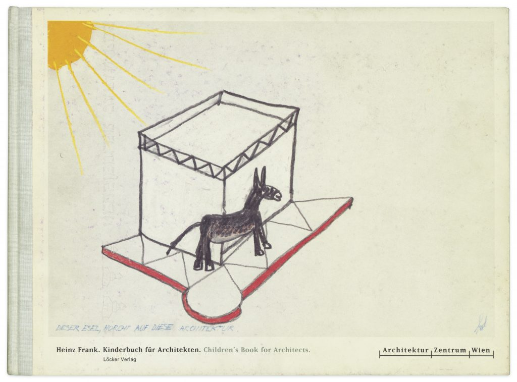 Buchumschlag mit Esel und Bungalow
