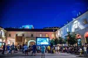 Film night in the Az W courtyard