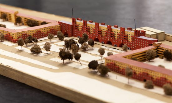 architectural model showing the Karl-Marx-Hof