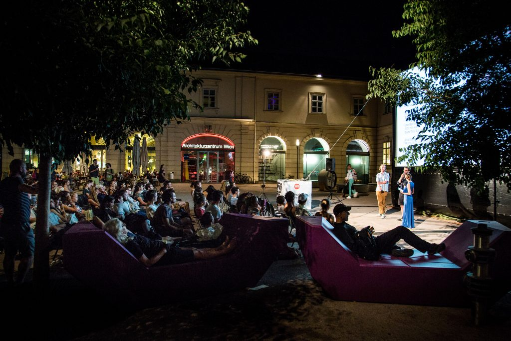 Open-air film screening