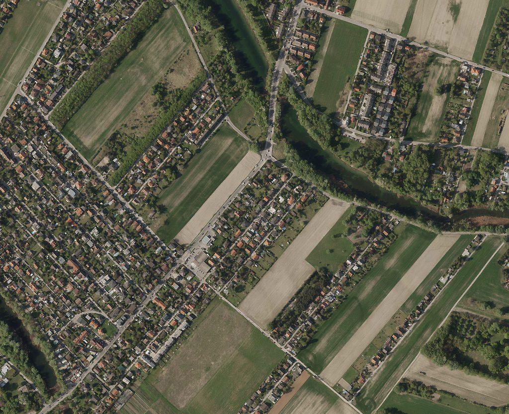 Luftaufnahme einer Siedlung