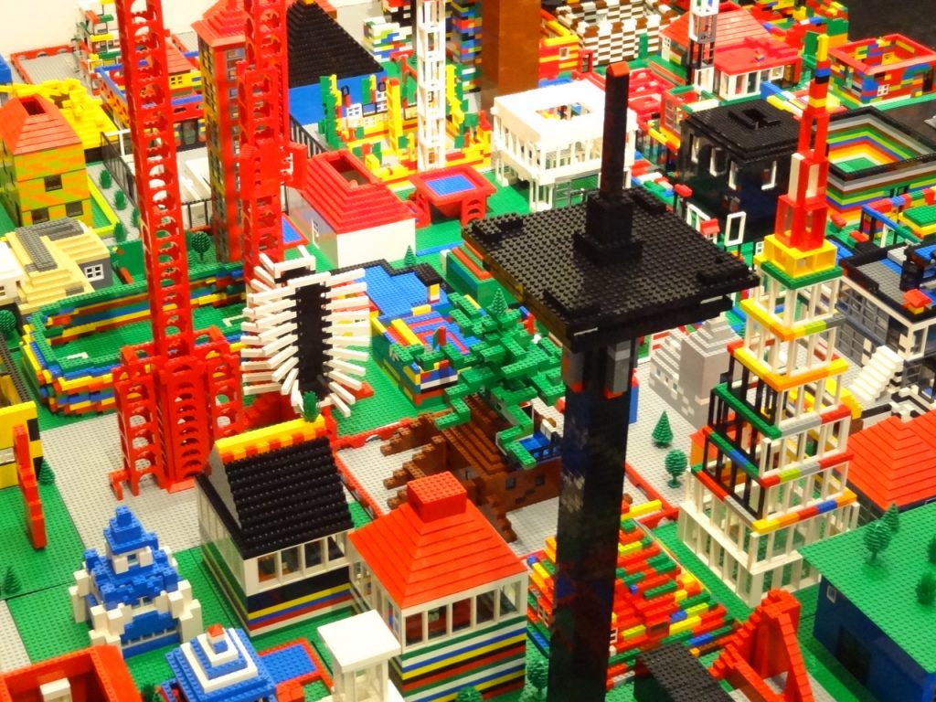 colourful LEGO Buildings