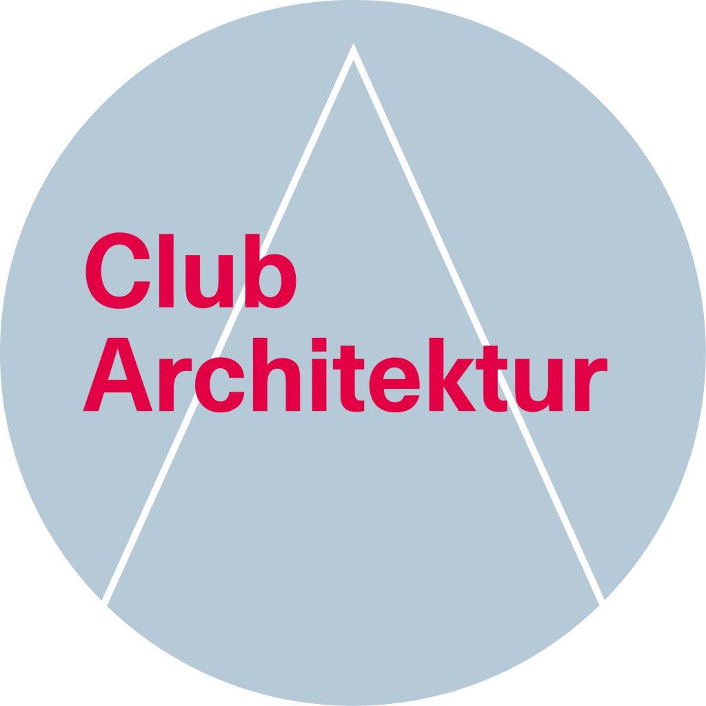 Rundes graues Logo mit pinker Schrift