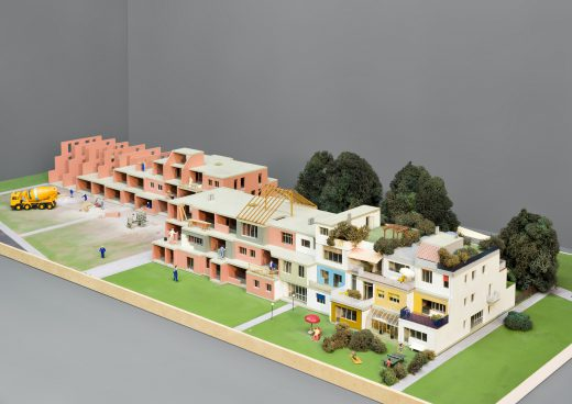 a Model of terraced houses