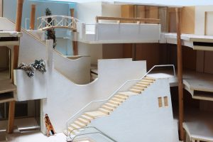 Architectural model with stairs
