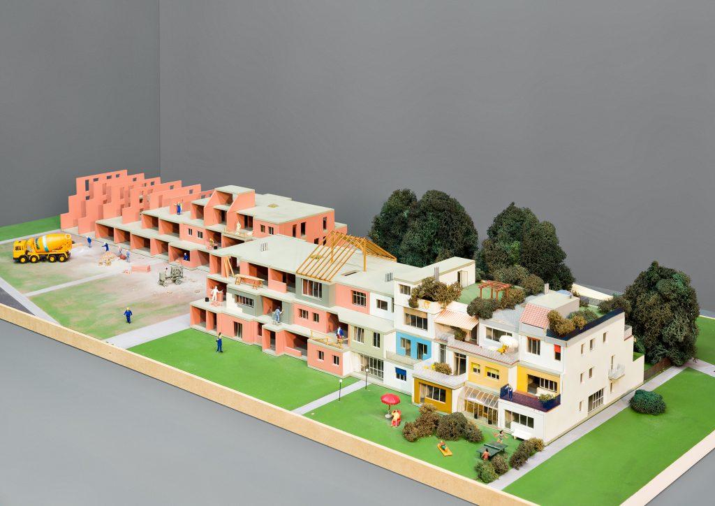 buntes Architekturmodell