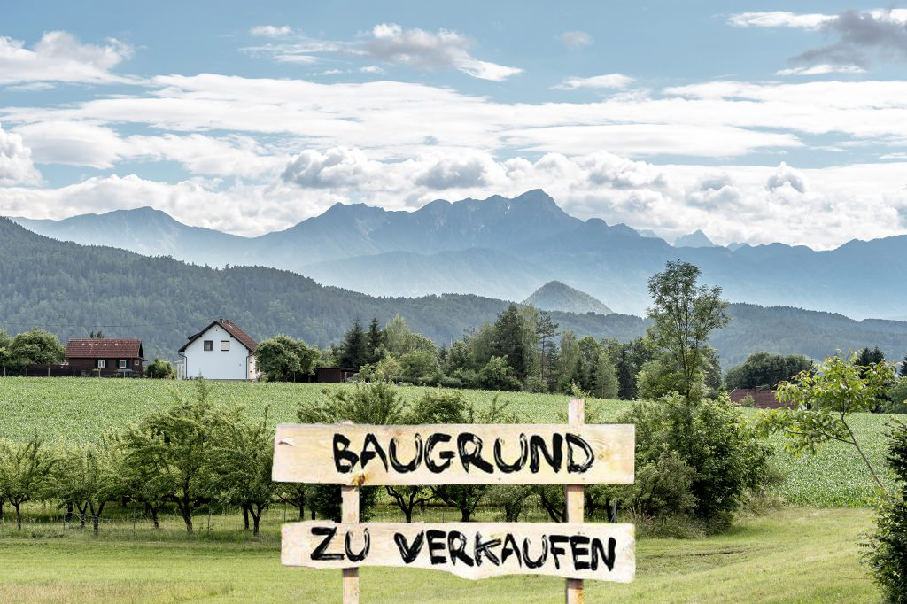 landscape with sign
