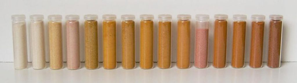 small bottles in different shades of brown
