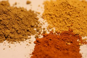 Powder in various shades of brown