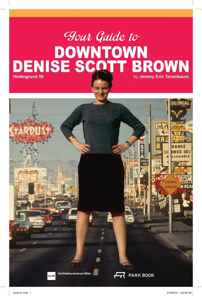 Buchcover Downtown Denise Scott Brown mit großer Frau im Vordergrund