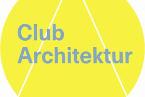 Logo Club Architektur gelb/blau